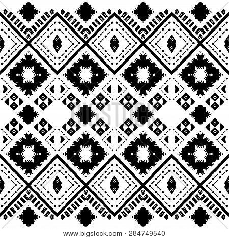 Abstract Zigzag Pattern For Cover Design. Tribal