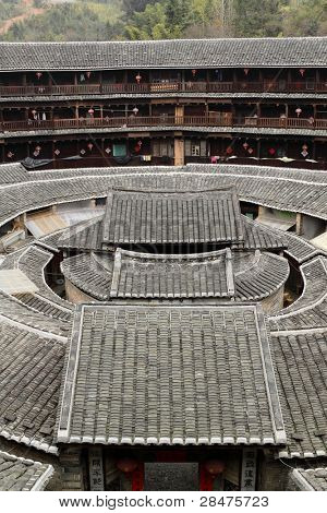 Fujian tulou-special architecture of china poster