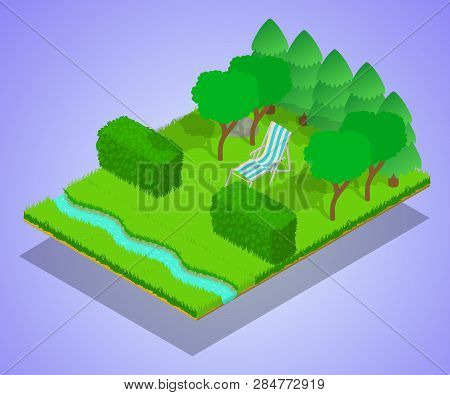 Quiet Place Concept Banner. Isometric Banner Of Quiet Place Vector Concept For Web, Giftcard And Pos