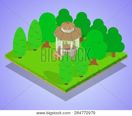 Oratory Concept Banner. Isometric Banner Of Oratory Vector Concept For Web, Giftcard And Postcard