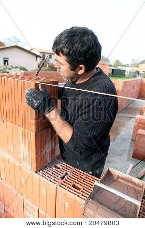 Housebuilder at work
