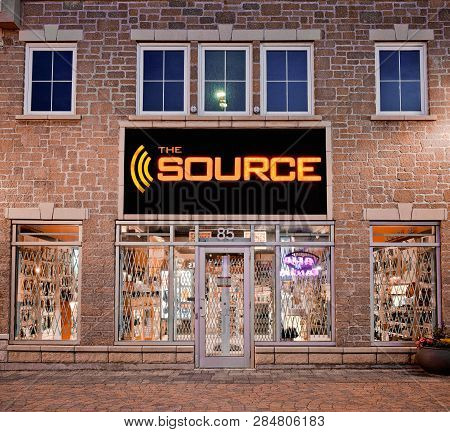 Dartmouth, Canada - July 20, 2014: The Source Retail Store. The Source, Previously Radioshack And Th