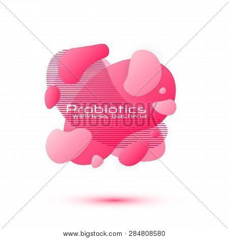 Probiotics Bacteria Vector Design. Lactobacillus Vector Icon Design. Medical Icons Vector Seamless P