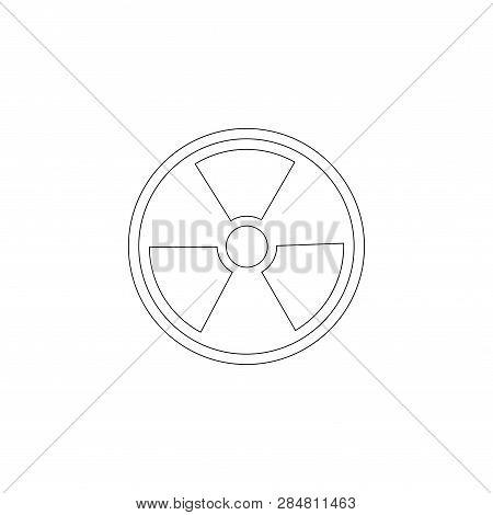 Radiation. Simple Flat Vector Icon Illustration. Outline Line Symbol - Editable Stroke