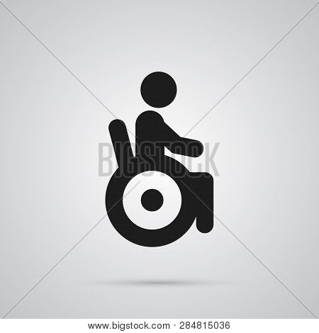 Isolated Disabled Icon Symbol On Clean Background.  Universal Access Element In Trendy Style.