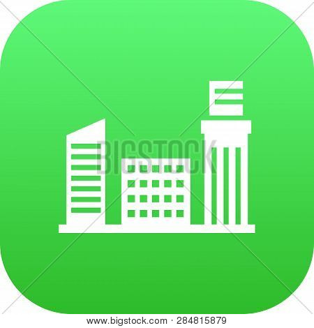 Isolated City Icon Symbol On Clean Background. Vector Metropolis Element In Trendy Style.