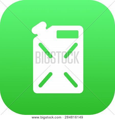 Isolated Fuel Canister Icon Symbol On Clean Background. Vector Jerrycan Element In Trendy Style.