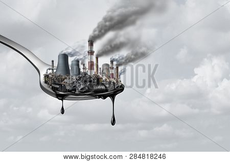Pollution In Food And Toxic Chemical Eat,surreal,surrealistic,idea,contaminants That People Ingest A