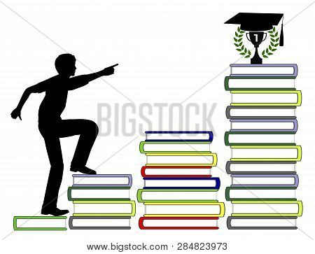 Starting The Academic Career. Mature Student Eager To Achieve University Or College Degree With Exce