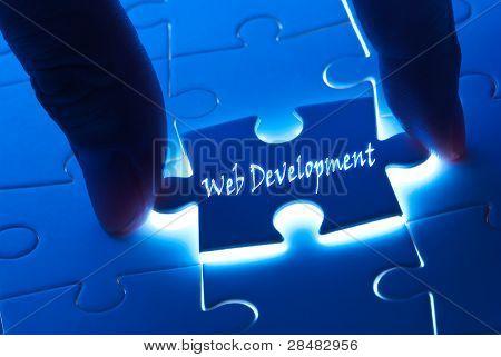 Web Development On Puzzle Piece
