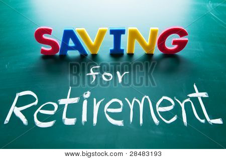 Saving For Retirement Concept