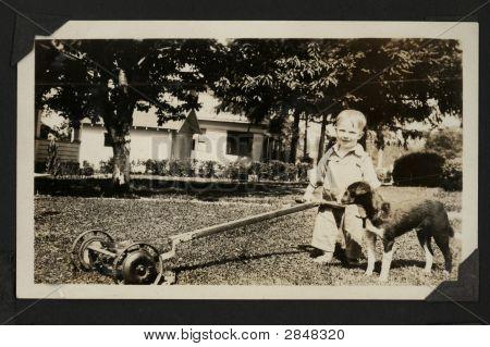 Vintage 1934 Farm Photo