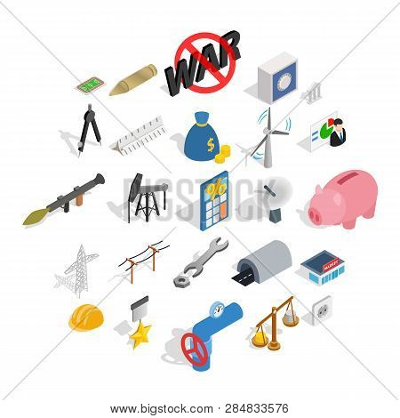 Financing Icons Set. Isometric Set Of 25 Financing Vector Icons For Web Isolated On White Background