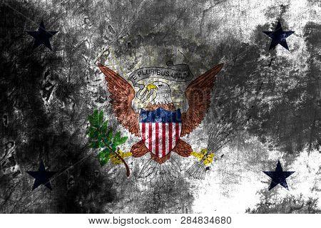Vice President Grunge Flag, United States Of America