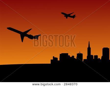 Planes Leaving San Francisco