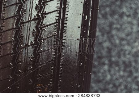 Big Tire Texture Tires From Truck Close-up