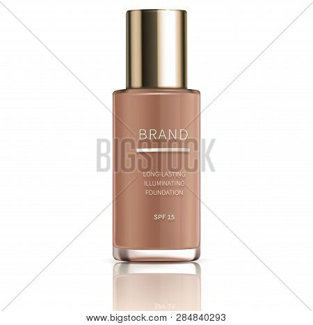Cosmetic Realistic Vector, Foundation For Perfect Makeup, Decorative Cosmetics. Colorstay Foundation