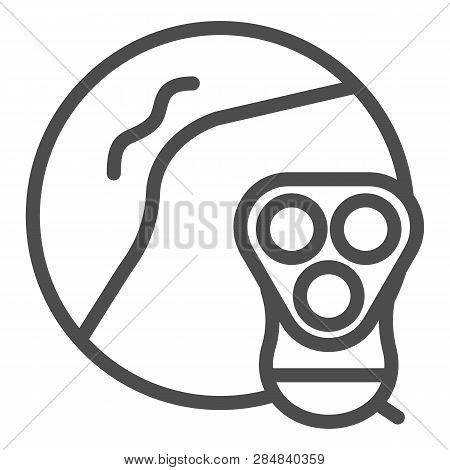 Armpit Epilation Line Icon. Armpit Shaving Vector Illustration Isolated On White. Razor Epilation Ou