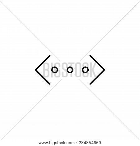 Brackets Code Html Outline Icon. Signs And Symbols Can Be Used For Web, Logo, Mobile App, Ui, Ux