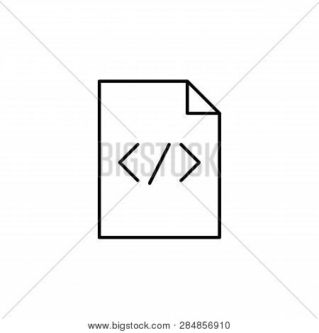 Code Paper Html Sheet Outline Icon. Signs And Symbols Can Be Used For Web, Logo, Mobile App, Ui, Ux