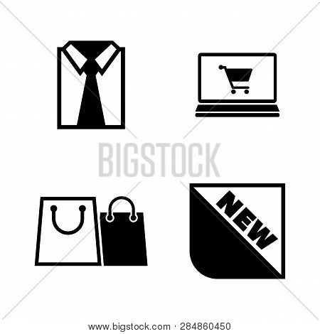 Shopping, Buying Clothes. Simple Related Vector Icons Set For Video, Mobile Apps, Web Sites, Print P