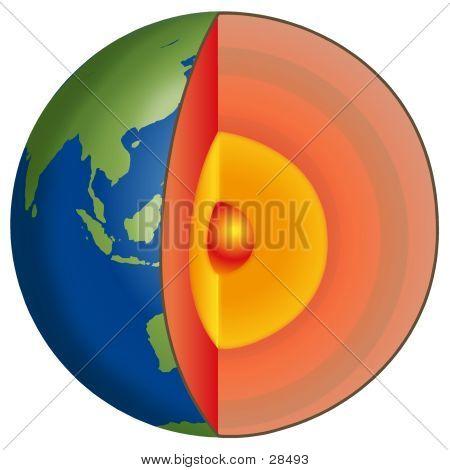 earth strata, illustration poster