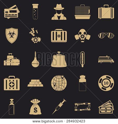 Investigation Icons Vector & Photo (Free Trial) | Bigstock