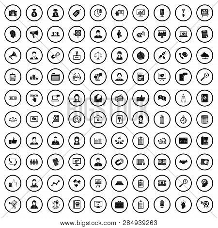 100 Business Partner Icons Set In Simple Style For Any Design Vector Illustration