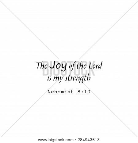 Christian Poster. New Testament. Modern Calligraphy. Quote. Bible Verse