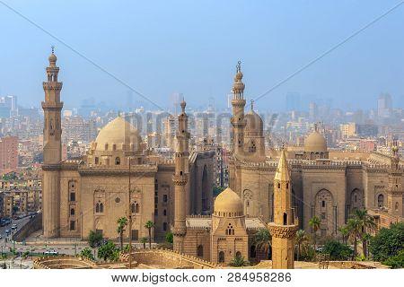 Cairo, Egypt - December 2 2018: Aerial View Of Cairo City From Salah Al Deen Citadel (cairo Citadel)