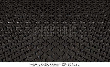 Black Modern Fashion Triangle Background 3d Illustration