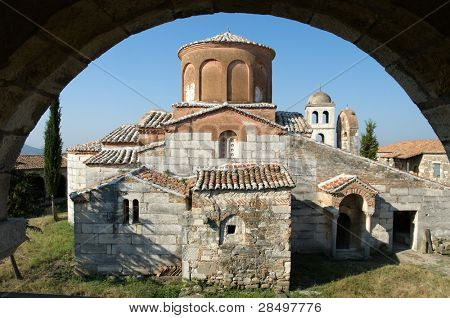 St. Mary church in monastery-museum of Apolonia, Albania poster
