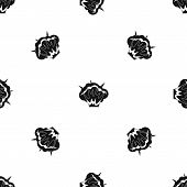 Projectile explosion pattern repeat seamless in black color for any design. geometric illustration poster
