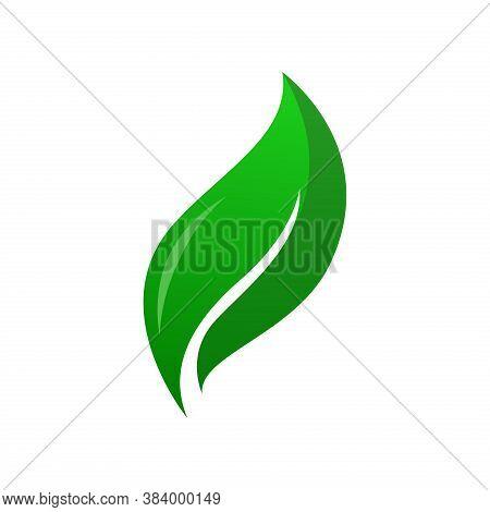 Green Leaf Vector Illustration. Eco Nature Symbol. Leaf Nature Symbol