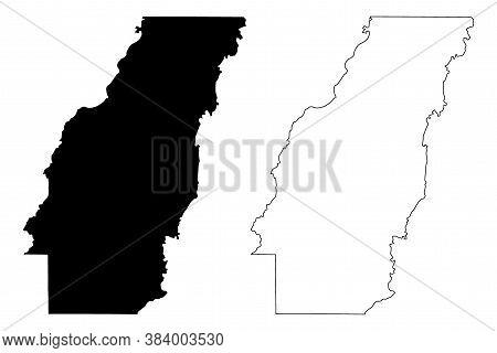 West Carroll County, Louisiana (u.s. County, United States Of America, Usa, U.s., Us) Map Vector Ill