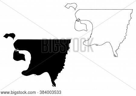 West Feliciana County, Louisiana (u.s. County, United States Of America, Usa, U.s., Us) Map Vector I