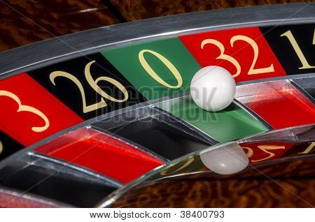 Classic Casino Roulette Wheel With Sector Zero