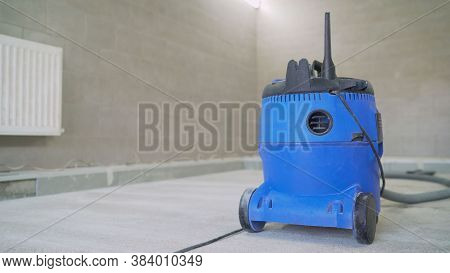 Industrial Vacuum Cleaner For Collecting Construction Dust And Debris. Professional Vacuum Cleaner A
