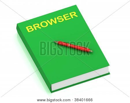 Browser Name On Cover Book