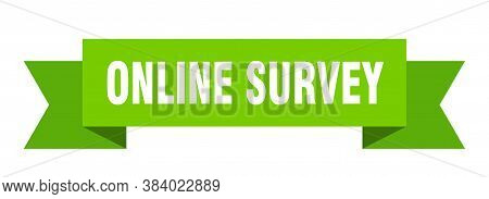 Online Survey Ribbon. Online Survey Isolated Sign. Banner