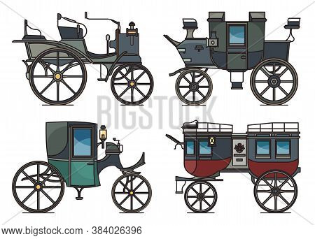 Closed And Open Xix Century Electric Automobile