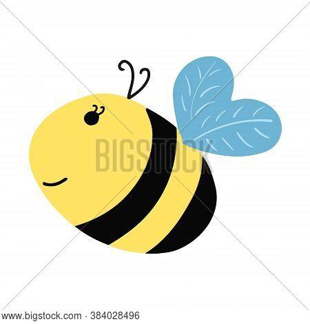 Smile Funny Bee. Cartoon Style. Vector Eps10 Bee, Wing, Cartoon, Simple, Honey, Nature, Bumblebee, F