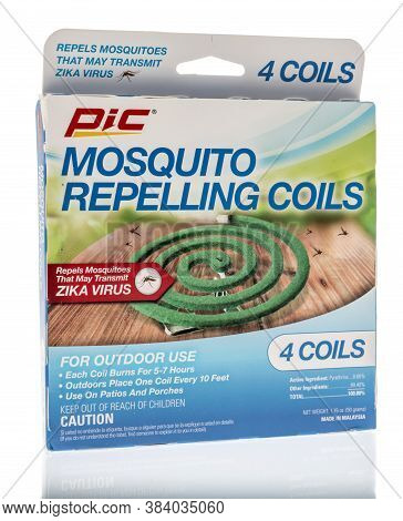 Winneconne , Wi - 28 August 2020:  A Package Of Pic Mosquito Repelling Coils On An Isolated Backgrou