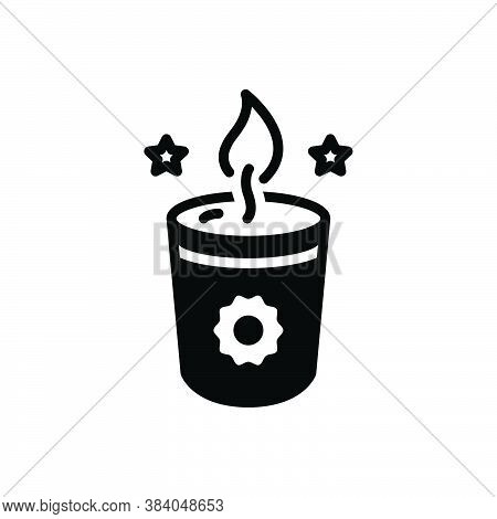 Black Solid Icon For Soy-candle Candle Lobworm Candlestick Wax Skyer Cimmerian Candle Melt Flame Fir