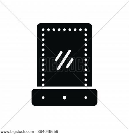 Black Solid Icon For Vanity-mirror Vanity Mirror Shiny Optics Reflector Furniture Glass Reflection A