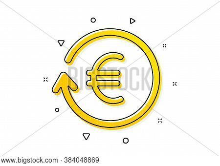 Banking Currency Sign. Euro Money Exchange Icon. Eur Cash Symbol. Yellow Circles Pattern. Classic Ex