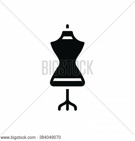 Black Solid Icon For Dress-form Dress Mannequin Dummy Garment Habiliments Female Embroidery Fashion