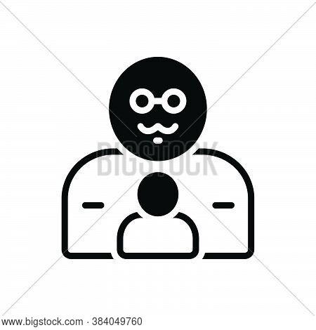 Black Solid Icon For Father Pop Origin Progenitor Ancestor Dad Daddy Pater Dada Gentleman Parenta Pe
