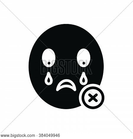 Black Solid Icon For Never Weep Mourn Lament No-way Not-ever  Not-at-any-time Cancel