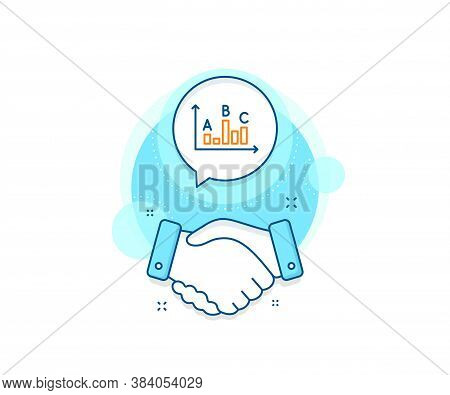 Best Answer Sign. Handshake Deal Complex Icon. Survey Results Line Icon. Business Stats Symbol. Agre